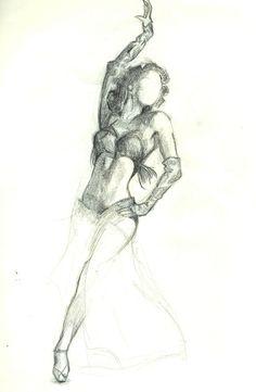 dancer by regardezmoi on DeviantArt Dancing Sketch, Dancing Drawings, Cute Drawings, Dancer Drawing, Figure Drawing, Victorian Paintings, Learn Art, Batman Art, Nose Art