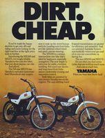 Yamaha MX100 & MX175 1978 Ad Picture