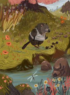 Little hedgehog. Character Design, Digital Art, Illustration
