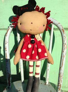Mickey Mouse primitive Raggedy Annie doll by oldragdollcupboard