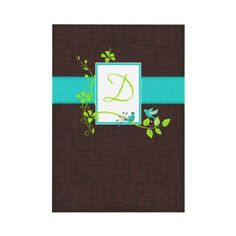 Turquoise Green Brown Crackle Wedding Invitation