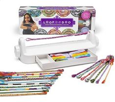 Loopdedoo Kit for Making Twisted Accessories - Loopdedoo Kit for Making Twisted Accessories Loopdedoo is a new spinning tool that uses ordinary embroidery floss to create fab and funky friendship bracelets in just minutesYou can also make necklace Rainbow Loom, Craft Kits, Diy Kits, Spinning, Kids Jewelry, Loom Weaving, Gifts For Teens, Bracelet Making, Jewelry Making