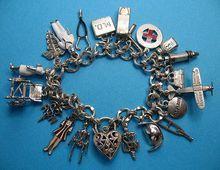 Vintage Sterling Silver Doctor & Nurse Themed Charm Bracelet