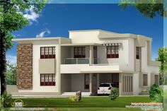 Superior Contemporary House Plans With Photos | Bedroom Contemporary Flat Roof Home  Design