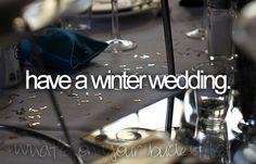 have a winter wedding xo