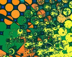St. Patrick's Day themed fractal by Nigel Brown