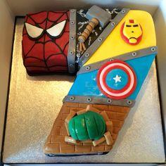 Marvel avengers number cake I made