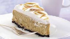 A rich chocolate crust holds a silky smooth cheesecake infused with great coffee flavor.