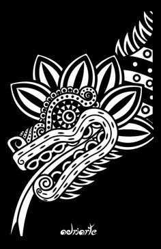 Quetzalcoatl por Adrian Acosta Meza adriarte                                                                                                                                                      Más