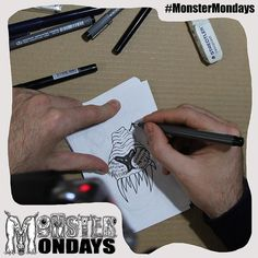 Getting closer! Our second monster is here! Yay! For monster mondays! Progress shot of it being put together! See it develop over the next few hours! Design will be available on T-shirts and Badges soon! Create Art Raise Awareness and manage your monsters! #MonsterMondays #monster #drawing #penandink #art #instaart #instaartist #artist #mentalhealth #mentalhealthawareness #anger #illustration #wip #lion #graphic #anxiety #depression #smashthestigma #stigmafighter #suicideawareness…