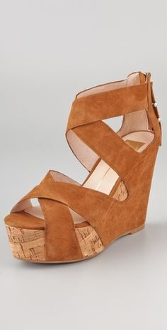 Dolce Vita Jaime Suede Wedge Sandals Your legs will look like a mile long in these if you can handle the height.