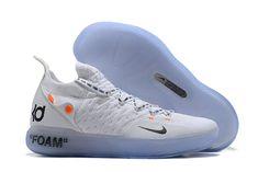 best service 368e7 02dff 2018 Off-White x Nike KD 11 White Black Orange Basketball Shoes Air Jordan  Basketball
