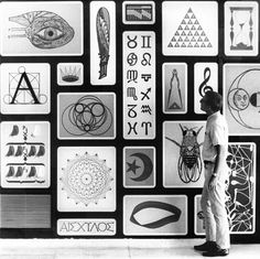 Alexander Girard Mural Depicting All Seven Liberal-Arts Disciplines Offered at St.Johns College, Santa Fe, New Mexico. 1964