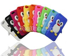 animal+iphone+cases | Lovely Cute Penguin 3D Animal Soft Silicone Case Cover for iPhone 5 5G