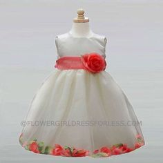 Flower Girl Dress Style BC596- Satin and Tulle Petal Dress in Choice of Color $49.99