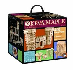 KEVA Maple 400 Plank Set - What a great concept for creative kids -- and adults of course.