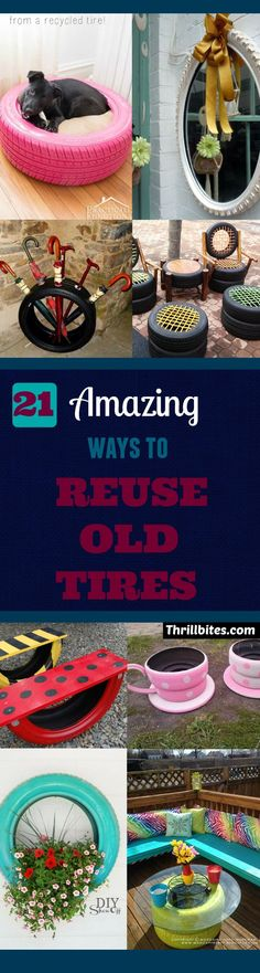 21 Super Amazing Ways To Reuse Old Tires   DIY Projects   DIY Crafts   DIY Ideas   Upcycling