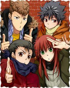 Tags: Yu Yu Hakusho, Urameshi Yuusuke, Kurama, Hiei, Kuwabara Kazuma, Four Males