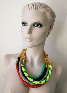 Rope Necklace  by ZEDHEAD on Etsy, £8.00 per colour