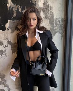 Classy Outfits, Chic Outfits, Trendy Outfits, Fashion Outfits, Womens Fashion, Mafia Outfit, Looks Chic, Elegant Outfit, Mode Outfits