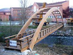 Popsicle Bridge, Bridges Architecture, Pedestrian Bridge, Urban Furniture, Urban Design, Garden Bridge, Villa, Outdoor Structures, World