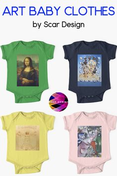 Art Baby clothes by Scar Design. Shop Christmas gifts for babies spread the love. Shop your #christmasgifts early this year and be prepared for the #holidayseason #christmas #Xmas #babyonesies #famouspaintings #artlovergift #artlovers #christmasgiftsforher #giftsforwomen #LeonardoDaVinci #Dali #Chagall #MonaLisa #findyourthing @redbubble
