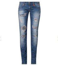 Jeans femme Zalando, craquez sur le Replay ANNE Jean droit bleu prix promo Zalando 185.00 € TTC