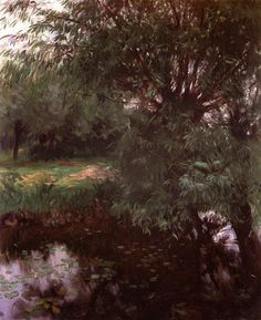 """""""A Backwater at Wargrave,"""" John Singer Sargent, 1887, oil on canvas, 29 1/2 x  24 1/2"""", private collection."""