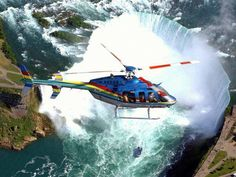 #Niagara #Falls #Helicopter #Tours and nearby attractions on Clifton Hill in Niagara Falls, Ontario, Canada. #overseas #holidays #Packages