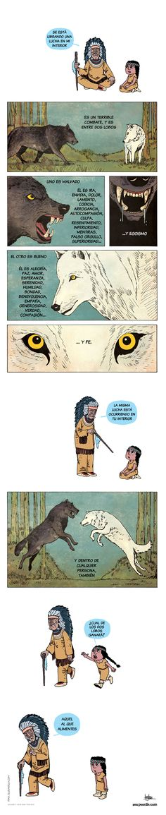 ... Tus dos lobos, una gran lucha interior.                                                                                                                                                                                 Más