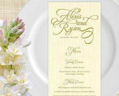 Printable Wedding Menu Card Wedding Menu Template By Memdesignshop