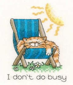 I don't do busy....