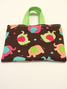 Gingham Elephants - Toddler Tote, $15.00