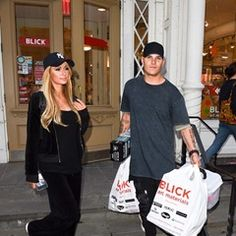 Paris Hilton & Chris Zylka are seen shopping at Blick arts and crafts store in New York