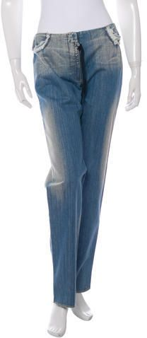by Maison Martin Margiela Distressed Straight-Leg Jeans w/ Tags Denim, Tags, Stylish, Women, Fashion, Moda, Women's, La Mode, Fasion
