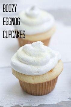 Boozy Eggnog Cupcake