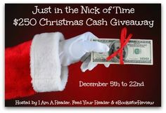 Enter the giveaway for a chance to win $250 Cash! Hosted by I Am A Reader, Not A Writer Feed Your Reader, and eBooksforReview