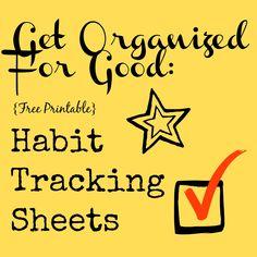 Habit Tracking Sheets
