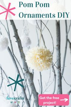 These beautiful DIY Christmas ornaments are so easy to make, and they look fantastic! Get the free craft project here.