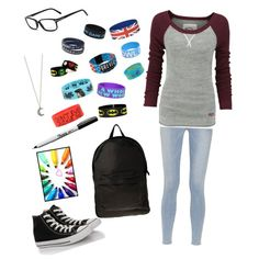 """""""Random outfit for school."""" by thingof on Polyvore"""