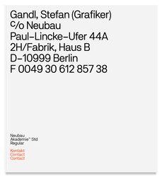 Neubau / NB Akademie™  Regular  (OTF Std/Pro) #neubauberlin