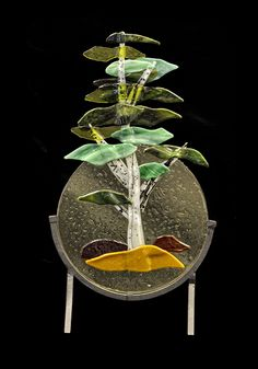Love this concept. I can envisage a series of stylised bonsai in fused glass pieces like this MIKE CARLSON