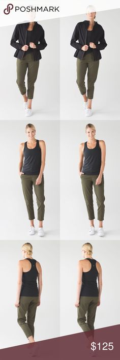 •{ l u l u l e m o n }• Lululemon &go city trek trouser.These go-to trousers were designed to be technical enough for a quick hike and versatile enough to wear to dinner with friends. lululemon athletica Pants Ankle & Cropped