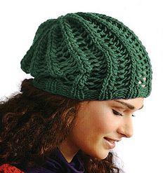 746c9b71048 Návod zdarma  Pletená dámská čepice s pružným vzorem