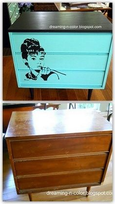 furniture redo with chalk paint | Craigslist dresser redo with homemade chalk-paint. | Furniture