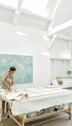 Artist Studios - Houses and Barns Photo Art Studio, Studio Layout, Wrap Around Deck, Barn Art, Garage Remodel, Dream Studio, Shabby Chic, Art Studios, Layout Design