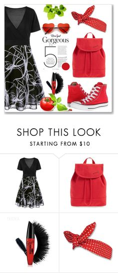 """""""Casual Dres"""" by dee-dee-01 ❤ liked on Polyvore featuring Converse and STATE Bags"""