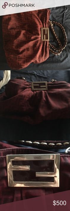 Fendi bag Super big and heavy!! I live in Hawaii and the humidity is getting to the chain ! So i have to get rid of !! Not goodbfor this weather Fendi Bags Shoulder Bags