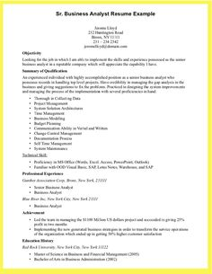 12 Cool Samples Of Business Analyst Resume Resume Sample Resume