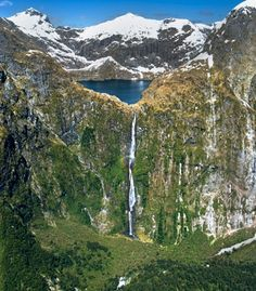New Zealand waterfall Milton Track